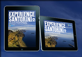 experience santorini HD digital and interactive publication on iPad